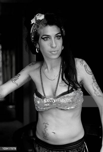 Singer Amy Winehouse at a home on May 18 2008 in CamdenLondon England