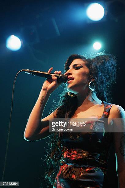 Singer Amy Winehouse performs live on stage at Koko in Camden Town on November 14 2006 in London England