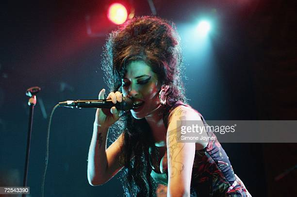 Singer Amy Winehouse performs live on stage at Koko in Camden Town on November 14, 2006 in London. England.