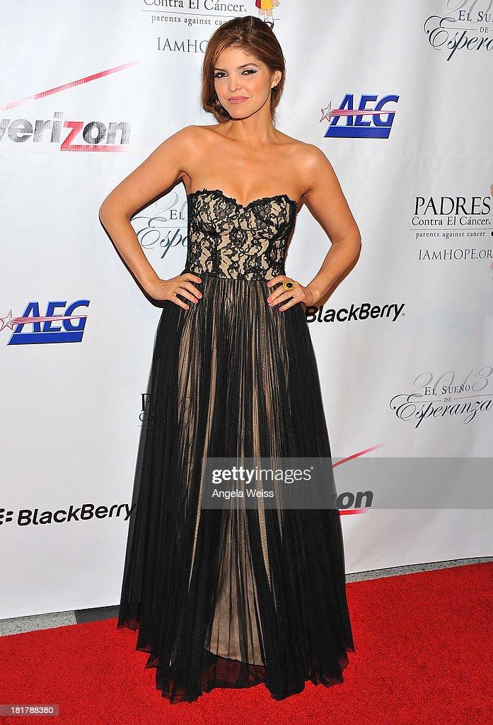 Singer Ana Barbara arrives at the Padres Contra El Cancer 13th annual 'El Sueno de Esperanza' gala on September 24, 2013 in Los Angeles, California.