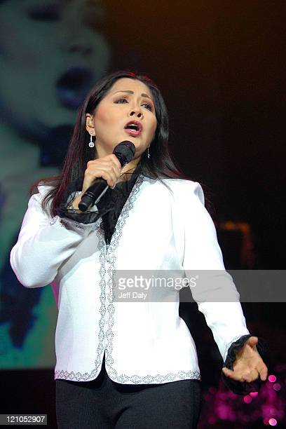Singer Ana Gabriel performs live at the Seminole Hard Rock Hotel and Casino on September 13 2007 in Hollywood Florida