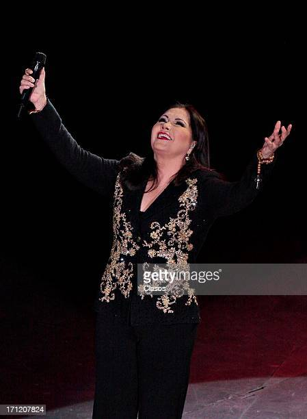 Singer Ana Gabriel performs live during a show at Auditorio Nacional on June 22 2013 in Mexico City Mexico