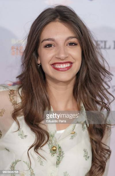 Singer Ana Guerra attends the 'The World of Hans Zimmer' concert photocall at Royal Theatre on July 3 2018 in Madrid Spain