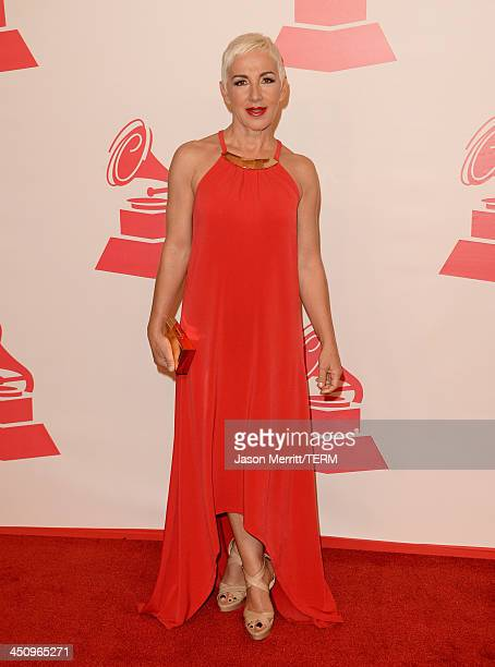 Singer Ana Torroja arrives at the 2013 Latin Recording Academy Person Of The Year honoring Miguel Bose at the Mandalay Bay Convention Center on...
