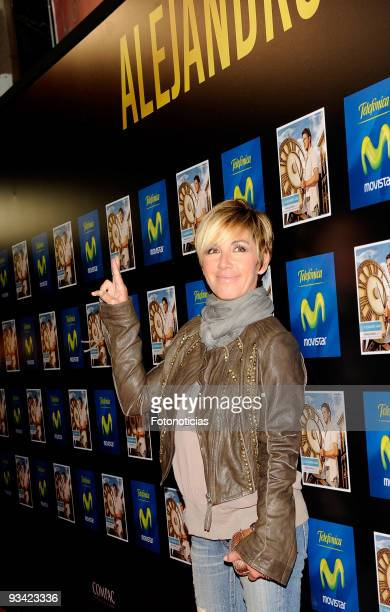 Singer Ana Torroja attends the Alejandro Sanz concert at the Compac Gran Via Theatre on November 25 2009 in Madrid Spain