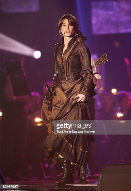 Singer Anais performs on stage during the 'Les Victoires de la Musique' at the Le Zenith on February 28 2009 in Paris France