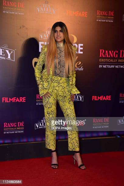 Singer Ananya Birla seen posing for the cameras at the Filmfare Glamour and Style Awards 2019 at hotel JW Marriott juhu in Mumbai