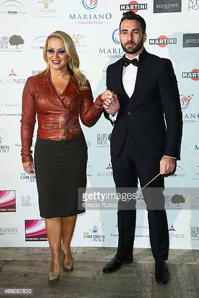 Singer Anastacia and Jacopo Sipari arrive at Children For Peace Gala at Spazio Novecento on November 28 2015 at Spazio Novecento in Rome Italy