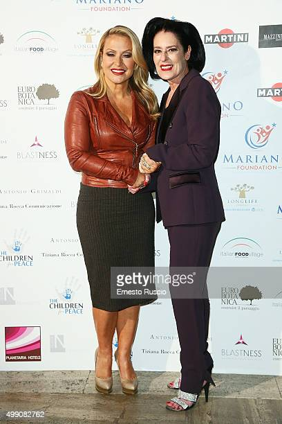 Singer Anastacia and President of Children For Peace Debra Mace arrive at Children For Peace Gala at Spazio Novecento on November 28 2015 at Spazio...