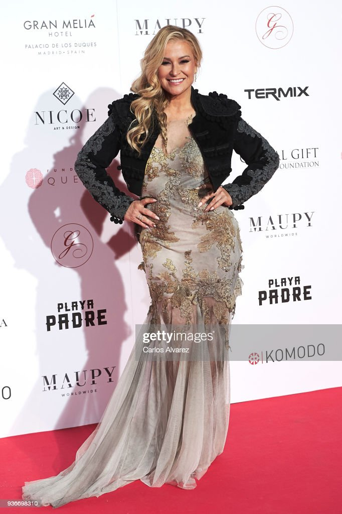Singer Anastacia attends The Global Gift Gala at the Thyssen-Bornemisza museum on March 22, 2018 in Madrid, Spain.