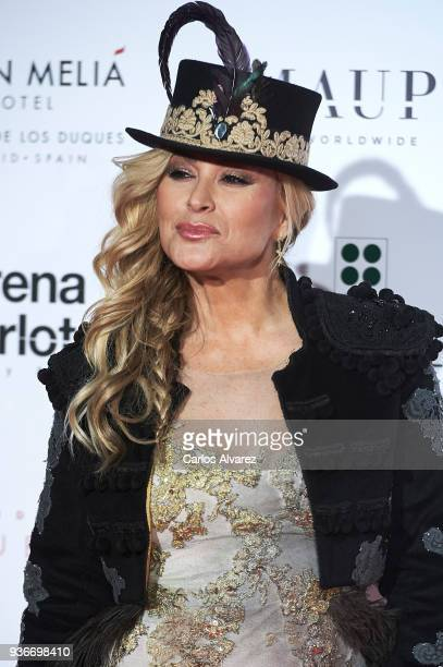 Singer Anastacia attends The Global Gift Gala at the ThyssenBornemisza museum on March 22 2018 in Madrid Spain