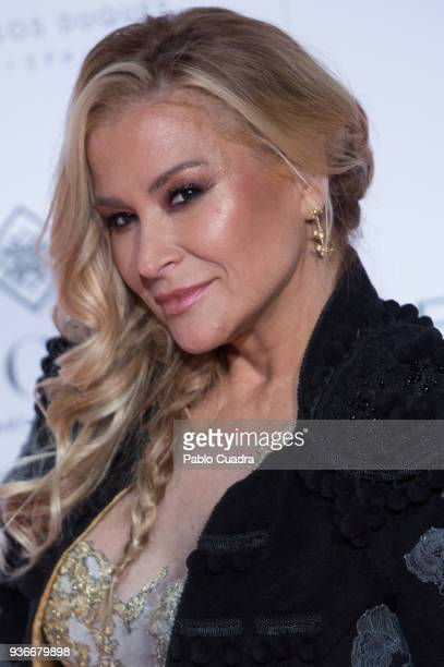 Singer Anastacia attends the III Global Gift Gala at ThyssenBornemisza museum on March 22 2018 in Madrid Spain