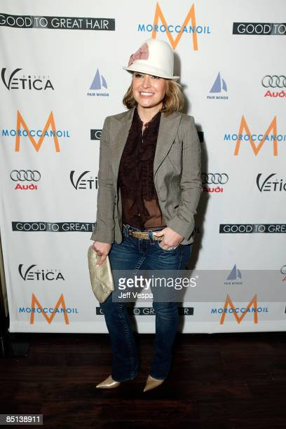 Singer Anastacia attends the Robert Vetica 'Good to Great Hair' book launch hosted by Salma Hayak at Beso on February 26 2009 in Hollywood California