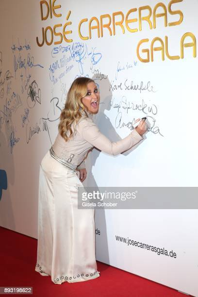 Singer Anastacia during the 23th annual Jose Carreras Gala at Bavaria Filmstudios on December 14 2017 in Munich Germany