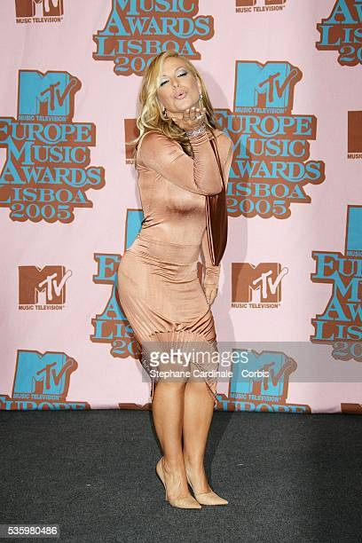 Singer Anastacia in the press room at the 12th annual MTV Europe Music Awards 2005 held at the Atlantic Pavilion in Lisbon