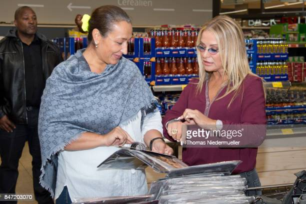 Singer Anastacia is seen at Shoppingcenter 'Das Gerber' to have a look at her new fashion collection on September 14 2017 in Stuttgart Germany
