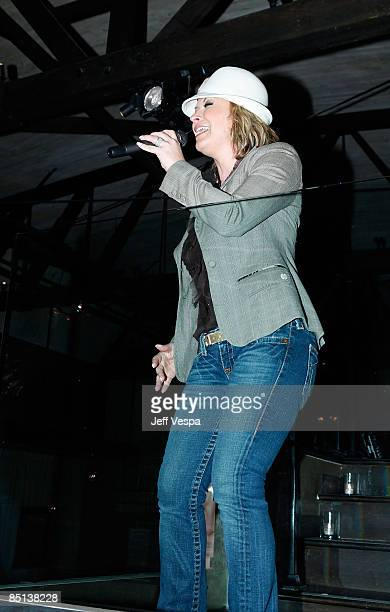 Singer Anastacia performs at the Robert Vetica 'Good to Great Hair' book launch hosted by Salma Hayak at Beso on February 26 2009 in Hollywood...