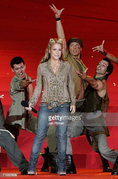 US singer Anastacia performs on stage during the 2006 Life Ball AIDS charity gala on May 20 2006 in Vienna Austria Life Ball has become one of the...