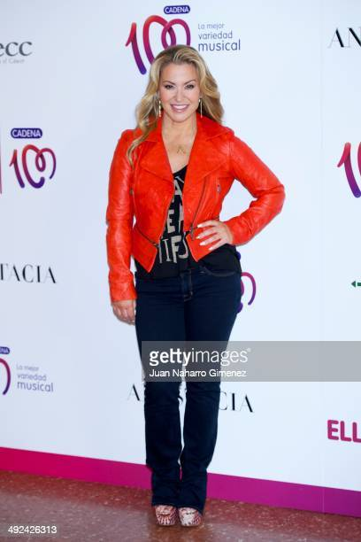 Singer Anastacia presents her new album 'Resurrection' at the Asociacion Espanola Contra el Cancer on May 20 2014 in Madrid Spain