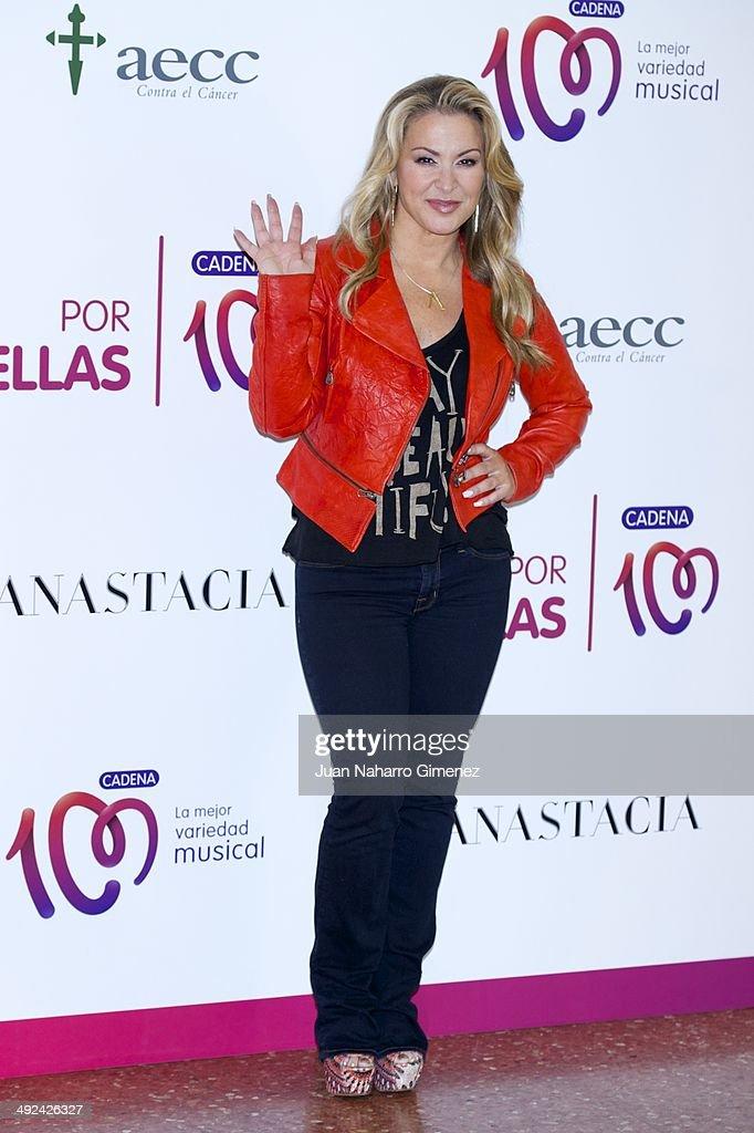 Singer Anastacia presents her new album 'Resurrection' at the Asociacion Espanola Contra el Cancer on May 20, 2014 in Madrid, Spain.