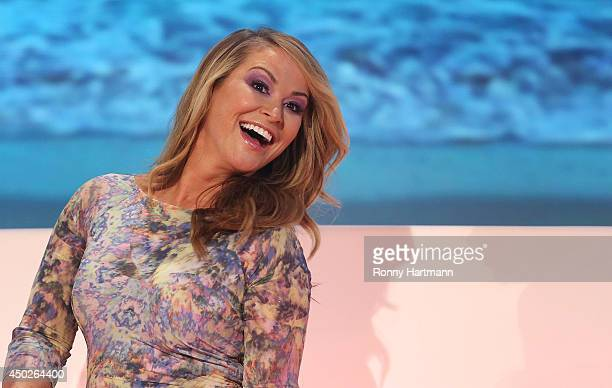 Singer Anastacia smiles during the 'Willkommen bei Carmen Nebel' show at GETEC Arena on June 07 2014 in Magdeburg Germany