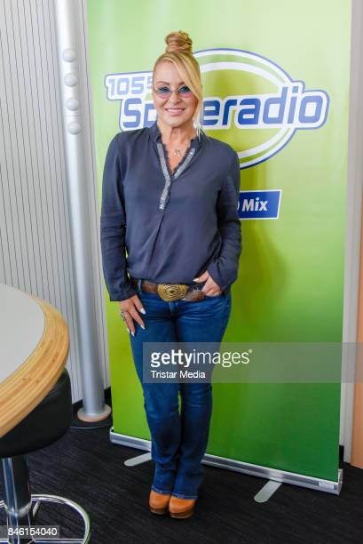 US singer Anastacia speaks about 'Caught In The Middle' at RTL Radio Center on September 12 2017 in Berlin Germany