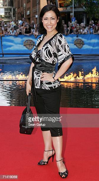 """Singer Anastasia Zampounidis arrives at the German premiere of """"Poseidon"""" July 11, 2006 at the Berlinale Palast in Berlin, Germany."""