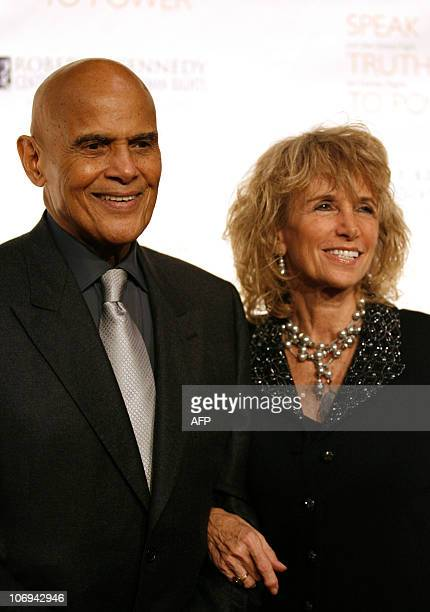 Singer and Activist Harry Belafonte and his wife Pamela come to Pier 60 to attend the Robert F Kennedy Center for Justice and Human Rights' 2010...