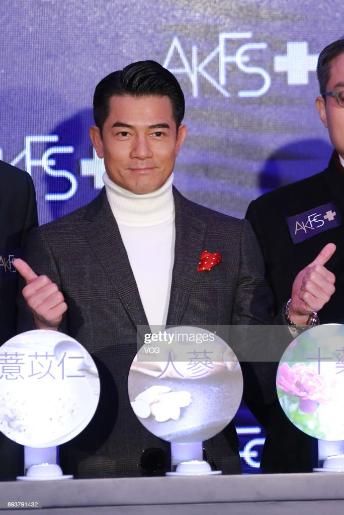 Aaron Kwok Promotes Haircare Brand In Hong Kong