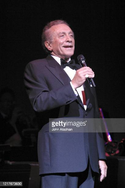 """Singer and actor Al Martino is shown performing on stage during a """"live"""" concert appearance on September 5, 2004."""