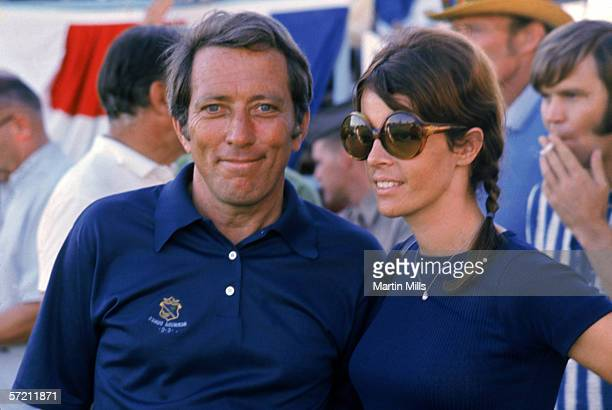 Singer and actor Andy Williams with wife Claudine circa 1960's