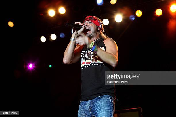 Singer and actor Bret Michaels performs on the Miller Lite Oasis Stage at the Henry W Maier Festival Park during the HarleyDavidson 110th Anniversary...
