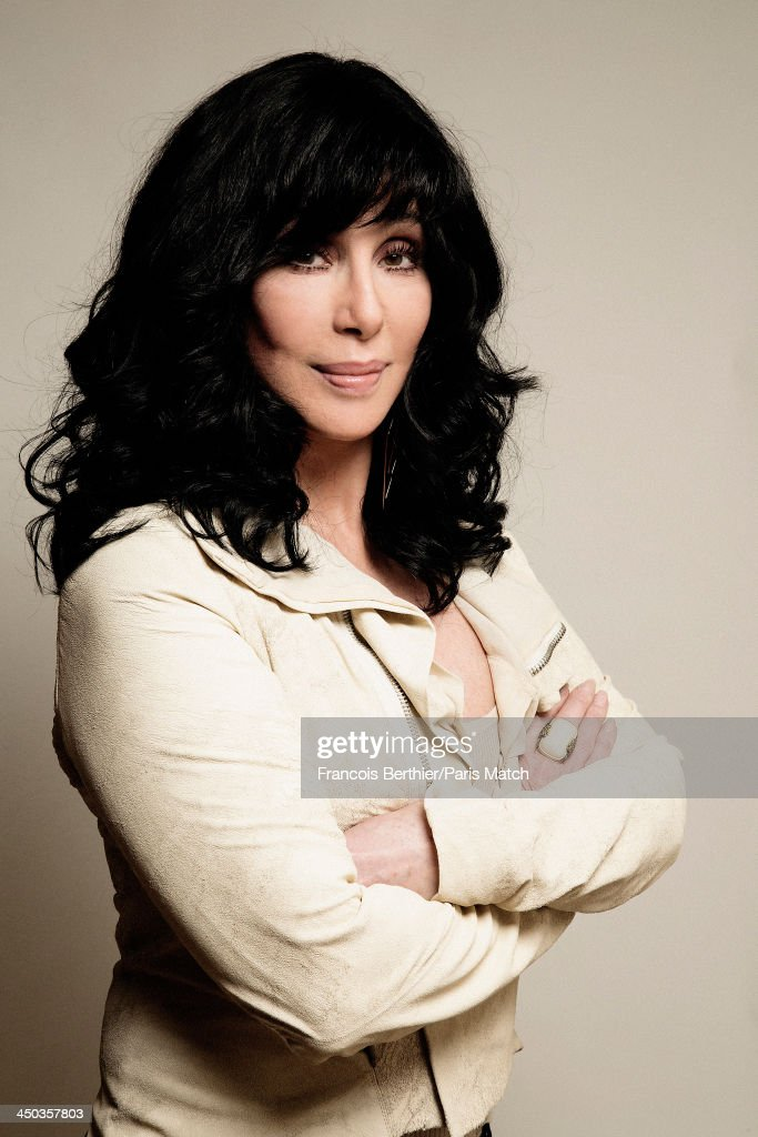 Singer and actor Cher is photographed for Paris Match on October 10, 2013 in Paris, France.