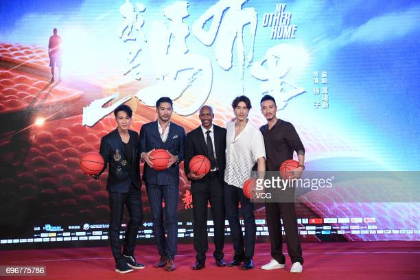 Singer and actor Chun Wu actor Godfrey Gao American basketball player Stephon Marbury model Vivian Dawson and actor Sunny Wang attend the fans...