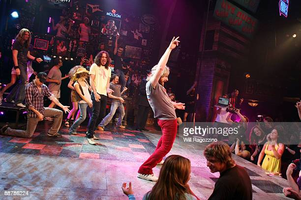Singer and actor Constantine Maroulis and 2007 National Air Guitar Champion Andrew 'William Ocean' Litz join the cast members and audience of the...