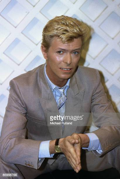 Singer and actor David Bowie in London 1983