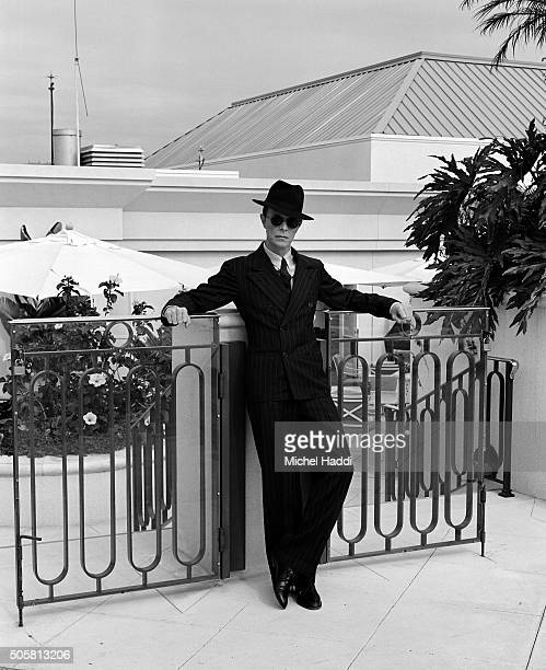 Singer and actor David Bowie is photographed for Interview magazine on October 8 1994 in Los Angeles California