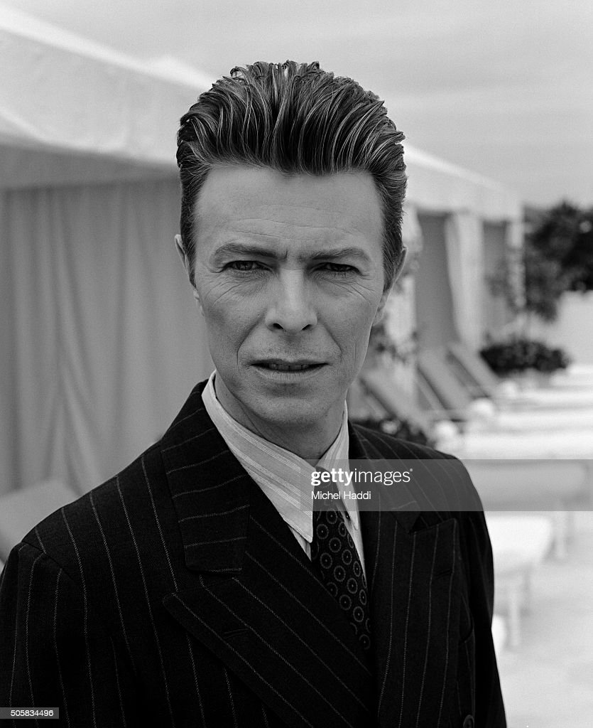 Singer and actor David Bowie is photographed for Interview magazine on October 8, 1994 in Los Angeles, California.