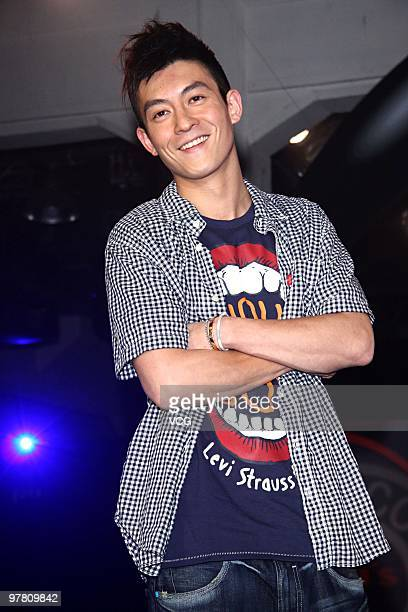 Singer and actor Edison Chen showcases to promote Levi's on March 17 2010 in Taipei Taiwan