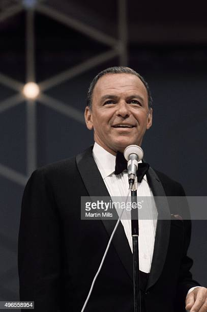 Singer and actor Frank Sinatra performs on the television special 'Francis Albert Sinatra Does His Thing' on August 15 in Los Angeles California