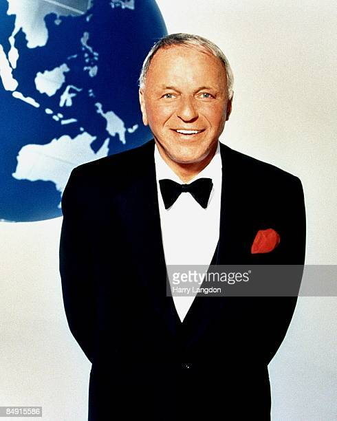 Singer and actor Frank Sinatra poses for a portrait in 1990 in Los Angeles California