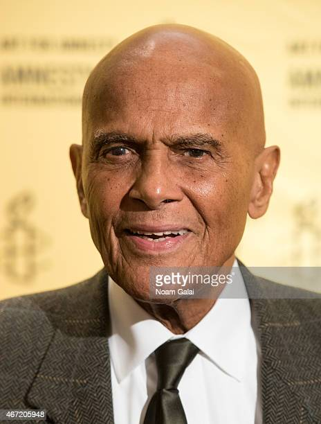 Singer and actor Harry Belafonte attends Amnesty International USA's 50th Annual Gathering at New York Marriott Brooklyn Bridge on March 21 2015 in...