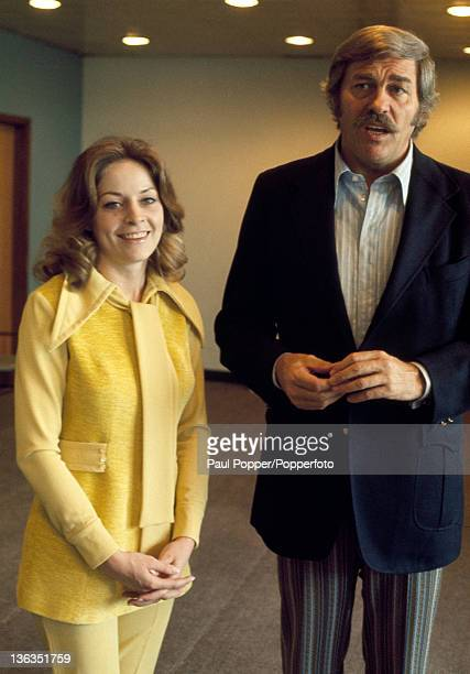 Singer and actor Howard Keel and his wife Judy at Heathrow Airport near London circa June 1971