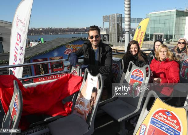Singer and actor James Maslow unveils his Ride Of Fame IT Bus at Pier 78 on December 6 2017 in New York City