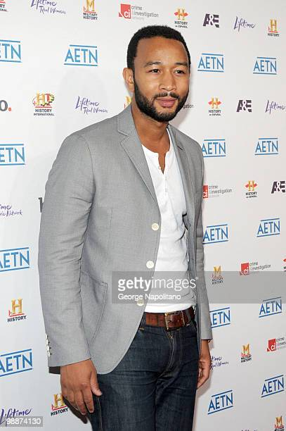 Singer and actor John Legend attends the 2010 AE Upfront at the IAC Building on May 5 2010 in New York City