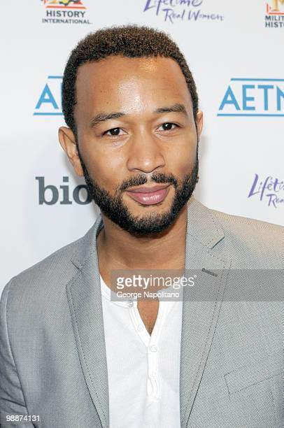 Singer and actor John Legend attends the 2010 A&E Upfront at the IAC Building on May 5, 2010 in New York City.
