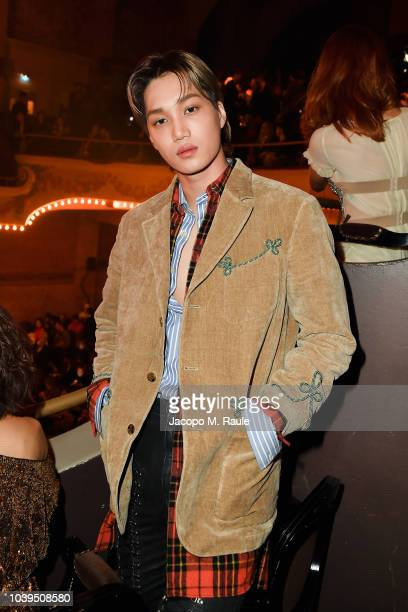 Singer and actor Kai attends the Gucci show during Paris Fashion Week Spring/Summer 2019 on September 24 2018 in Paris France