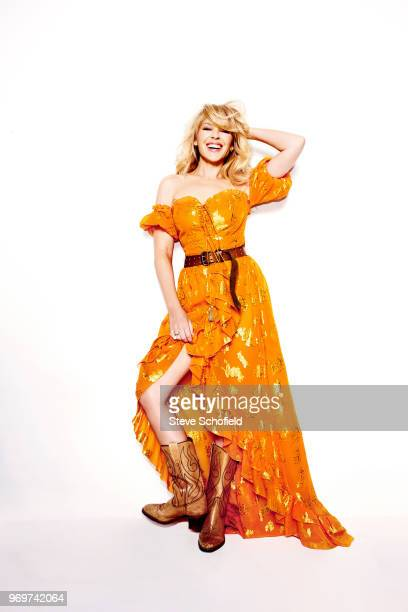 Singer and actor Kylie Minogue is photographed for the Sunday Times magazine on February 7 2018 in London England