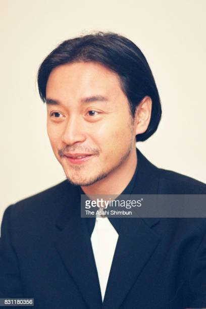 Singer And Actor Leslie Cheung speaks during the Asahi Shimbun interview on October 3 1993 in Tokyo Japan