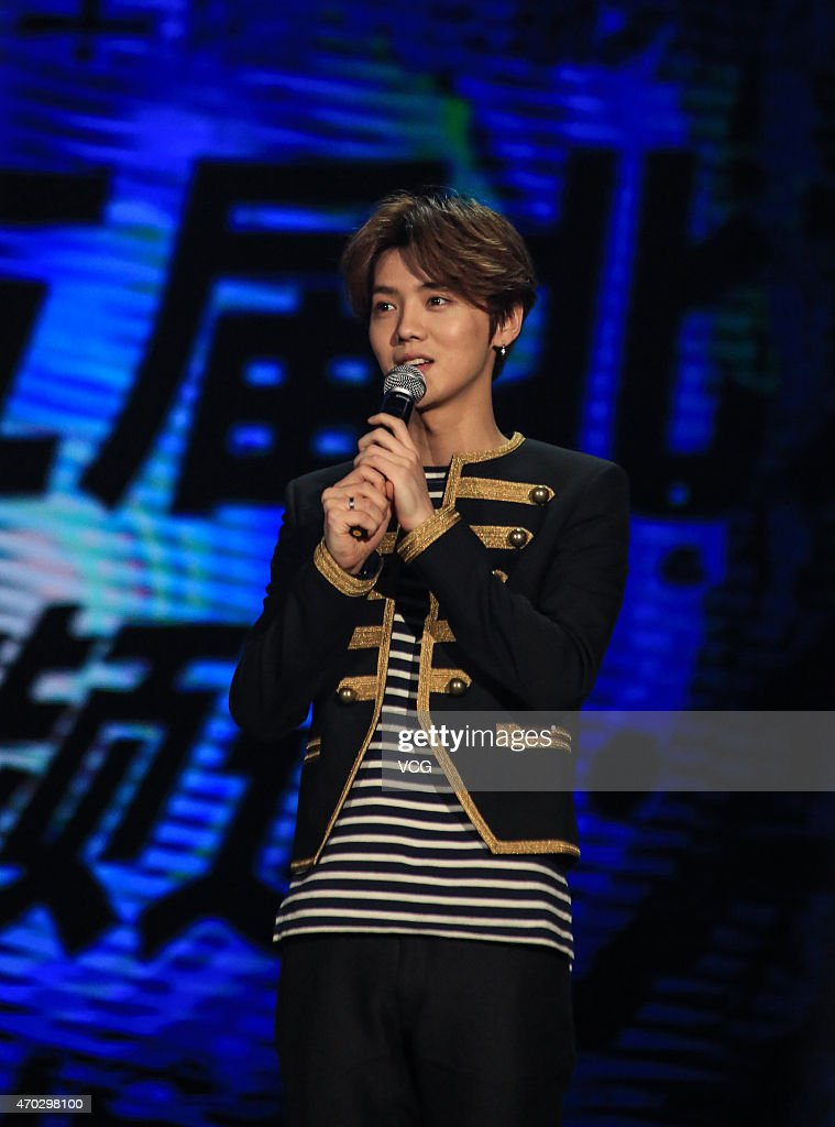 Singer and actor Lu Han attends the 5th Beijing International Film Festival on April 18, 2015 in Beijing, China.